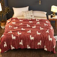 珊瑚毛毯冬季加厚保暖床单人宿舍女学生午睡毛巾小被子法兰绒毯子