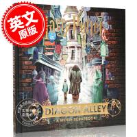 现货 哈利波特与对角巷:电影剪贴簿 英文原版 Harry Potter Diagon Alley: A Movie S