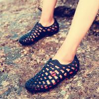 夏季拖鞋男士洞洞鞋韩版沙滩鞋包头鸟巢凉鞋子透气防滑情侣防水鞋