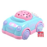玩具遥控早教投影仪故事机婴儿安抚小飞机 【暖色投影小车辆】 遥控版1200个内容