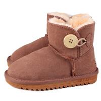 儿童雪地靴冬季男童靴子宝宝加绒棉鞋