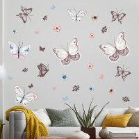 温馨卧室墙面装饰壁纸花朵贴纸宿舍墙贴画少女心房间布置墙纸自粘 特大
