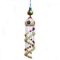 风铃风水挂饰挂件阳台客厅装饰葫芦草箩龙铃创意门饰 花色