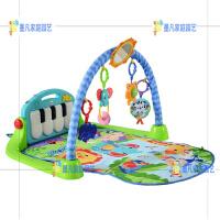 健身架新生婴儿宝宝脚踏音乐钢琴新琴琴玩具爬行游戏毯垫