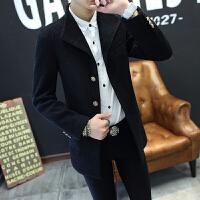 毛呢大衣男秋冬季新款帅气风衣韩版潮流修身呢子外套青年男装