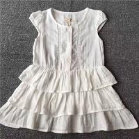 夏季童装连衣裙 女童女宝宝白色纯棉蛋糕裙儿童小飞袖裙衫