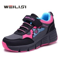 威立斯暴走鞋男童 女儿童自动秋冬款滑轮爆走鞋带轮子的运动童鞋