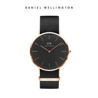 DanielWellington丹尼尔惠灵顿 DW手表 40mm织纹带男表黑表盘腕表