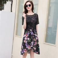 连衣裙短袖中长款修身显瘦气质唯美简约可爱潮流时尚年春季
