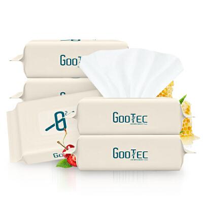 喜朗谷斑婴儿湿巾5包新生手口专用湿巾宝宝幼儿湿纸巾家用整箱装 德国4D工艺纺织,无酒精,无香味,不掉毛