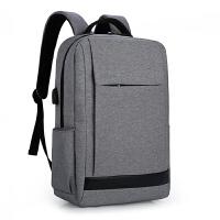 男士商务背包电脑包15.6寸双肩包男笔记本14寸惠普华硕双肩背包