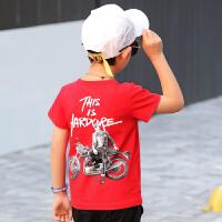 童装男童夏装套装2018新款中大童夏季男孩T恤潮衣儿童短袖两件套