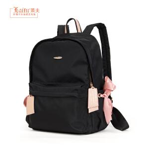 【可使用礼品卡】莱夫双肩包女 ins超火尼龙韩版2018新款书包旅行电脑学生帆布背包