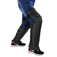 20180323043207281骑摩托车护膝加厚保暖冬季电动车护膝护腿挡风防风防寒加长男