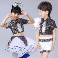 六一儿童爵士舞演出服女幼儿园现代舞蹈表演服装啦啦操亮片蓬蓬裙