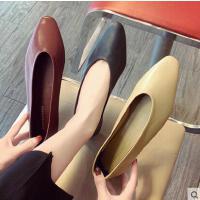 新款韩版平底奶奶鞋女复古浅口百搭软底休闲单鞋芭蕾舞鞋