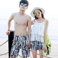 情侣泳衣 比基尼泳衣女三件套小胸钢托聚拢修身男士沙滩裤 支持礼品卡支付
