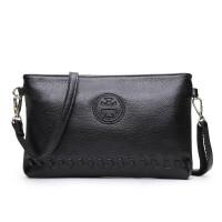 手包女包手拿包新款小包包单肩斜挎包h 黑色
