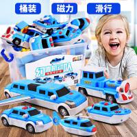 拼装汽车飞机2-3-4-5-6岁男孩女百变海陆空拼装玩具宝宝磁性磁力