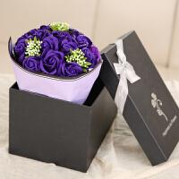 情人节玫瑰香皂花束礼盒生日礼物送男女生朋友情闺蜜diy 韩国
