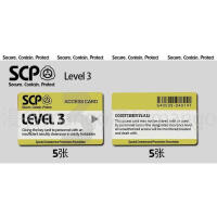 scp卡贴黑卡基金会门禁卡等级卡制作卡贴定制饭卡学生diy定做礼物SN6793 level 3