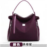 女包单肩包女手提女士斜挎包休闲包包新款布包h 典雅紫色