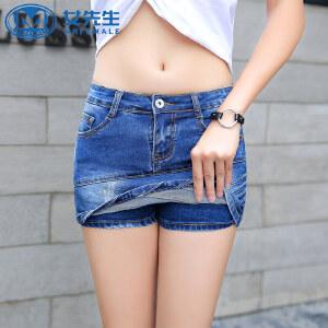 【拒绝套路,底价包邮】韩版女装新款2018短裤打底牛仔裤修身显瘦牛仔短裤裙防走光热裤子