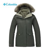 哥伦比亚秋冬新品户外女装防水防风羽绒三合一冲锋衣XR7946