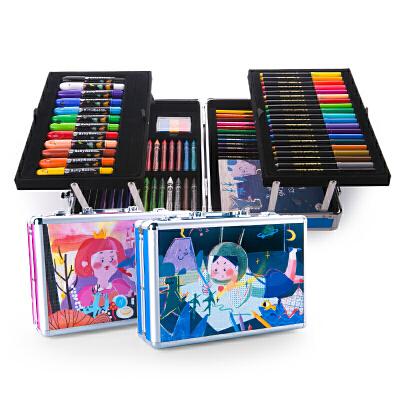 宝宝画画工具水彩笔蜡笔儿童绘画套装涂鸦文具礼盒可水洗