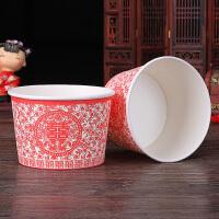 20181012072550807结婚喜庆用品婚庆一次性碗婚礼纸碗创意红碗喜宴布置喜碗餐具
