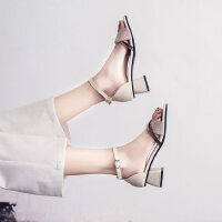 户外时尚女士凉鞋ins潮休闲舒适女鞋气质百搭中跟鞋