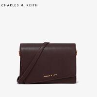 CHARLES&KEITH风琴包单肩斜挎女包CK2-80680599金属装饰