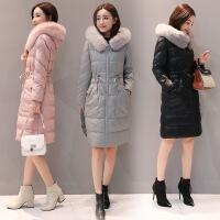 PU皮女中长款新款百搭韩版修身收腰加厚冬装棉衣棉袄外套