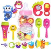 男孩宝宝儿童益智婴儿玩具 0-1岁宝宝手摇铃3-6-12个月新生幼儿男女孩牙胶套装