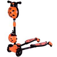 儿童滑板车三轮蛙式宝宝剪刀车滑滑车闪光折叠2-6-7-8岁