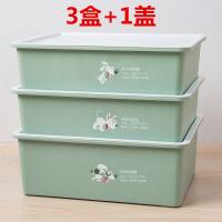 内衣分类收纳盒 易分类加厚内衣盒有盖三件套塑料文胸内裤袜子分格放抽屉收纳盒