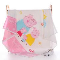 【纯棉婴儿浴巾双层纱布童被方形浴巾宝宝儿童盖被夏季薄