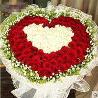 ????礼缘 520情人节 33朵红玫瑰花束全国同城送花北京上海杭州广州鲜花速递 喜迎国庆