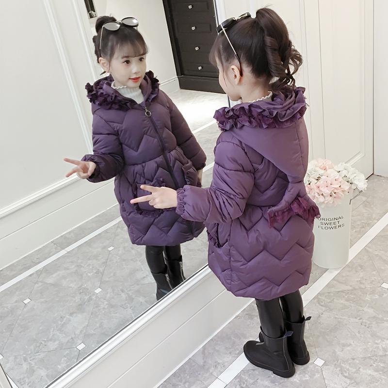 儿童厚款棉衣外套2018新款女孩棉袄中长款棉服