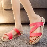 外穿女女士海边沙滩鞋防滑平底夏季凉拖鞋时尚厚底拖鞋