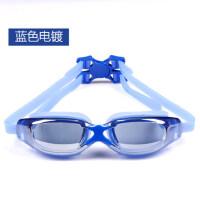 平光/近视泳镜 简约防雾防水游泳眼镜 电镀大框男/女游泳镜