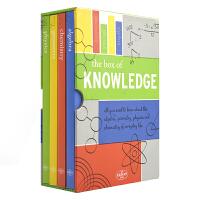 【首页抢券300-100】The Box of Knowledge 科学知识套盒4册 科学发展史 少儿英语科普知识读物