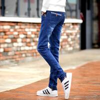 男士牛仔裤男生修身型秋冬款韩版青少年弹力小脚裤秋季学生长裤