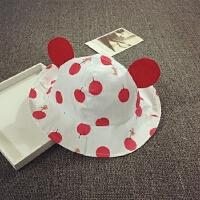 宝宝帽子夏天遮阳帽渔夫帽盆帽可折叠太阳帽布帽男女儿童胎帽韩版