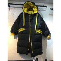 H4韩版女冬季新外套棉袄过膝面包服情侣棉衣女中长款1.35