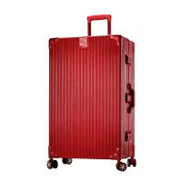 复古铝框行李箱旅行箱拉杆箱子包万向轮韩版男女24寸