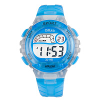 时尚儿童手表 学生男孩女孩 夜光果冻电子表 闹钟运动防水表
