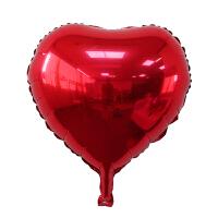 18寸桃心爱心铝膜气球情人节求爱婚房装饰生日派对聚会晚会装饰品