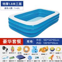 大号充气游泳池儿童家用小孩宝宝戏水池加厚家庭大型洗澡池