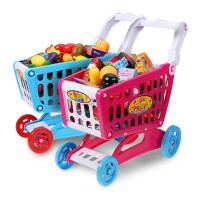 儿童过家家超市手推车小女孩厨房切切乐玩具套装宝宝购物车仿真